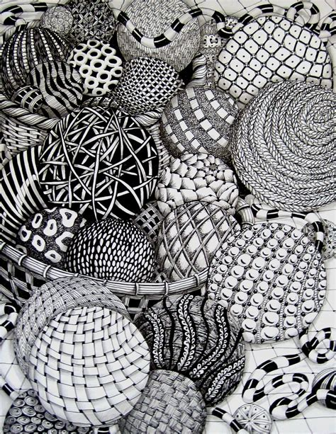 Drawing Zentangle by Zentangle Balls By Missyliss Create Doodles