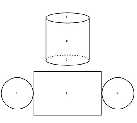 cylinder template the surface area and the volume of pyramids prisms