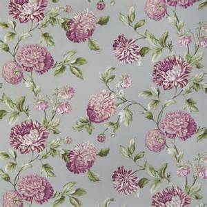 smoke purple floral upholstery fabric