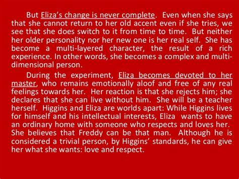 Pygmalion Essay by Character Essay On Eliza Pygmalion Ghostwriterbooks X