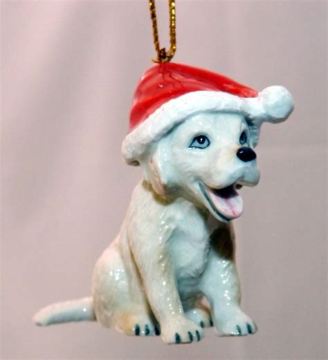 northern rose porcelain christmas tree decoration puppy