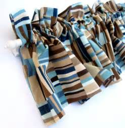 Brown And Teal Valances focus valance curtains brown blue teal stripes 53 inches