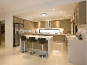 modern open plan kitchen design using polished concrete open plan kitchen design ideas