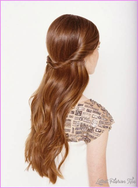 half up half down hairstyles for long faces long hairstyles half up half down latestfashiontips com