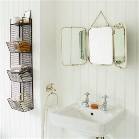 Tri Fold Bathroom Vanity Mirrors by Vintage Tri Fold Wall Hung Mirror