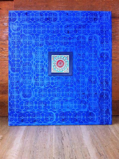 azulejo grego tela azulejo grego em pintura acrilica 2014 90x100