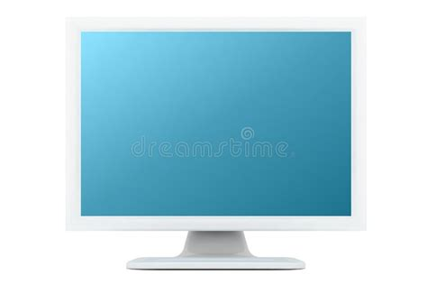 Imac L Shade by White Monitor With Cyan Shade Stock Image Image 3163291