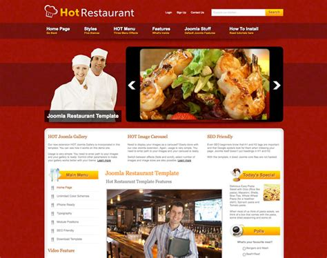 template restaurant joomla restaurant template restaurant hotthemes