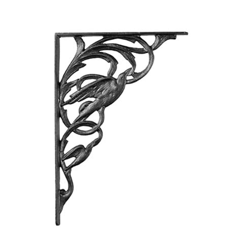 Small Decorative Shelf Brackets by Iron Accents Small Bird Iron Shelf Bracket Cb66b