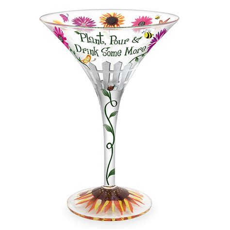 Decorated Margarita Glasses by Garden Decorated Martini Glass Everythingbutwine