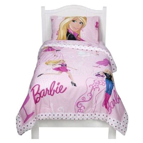 barbie bed set new barbie fashion doll pink twin comforter bedding set