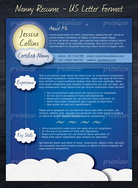 Nanny Resume Template by Nanny Resume Template Print Codegrape