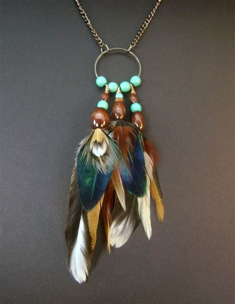 real feather necklace copper feather pendant necklace