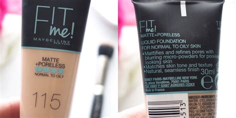 Maybelline Fit Me Foundation Matte Poreless maybelline fit me matte poreless foundation review scolvinbeauty