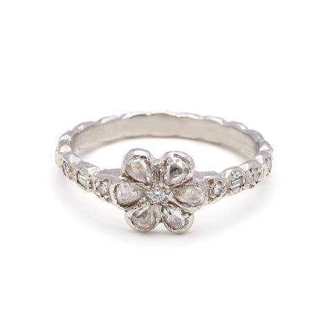 platinum flower ring elisa solomon jewelry