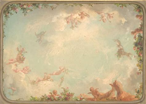 Dollhouse Ceiling Wallpaper by Dollhouse Miniature Ceiling Mural Wallpaper 6117 By Itsy