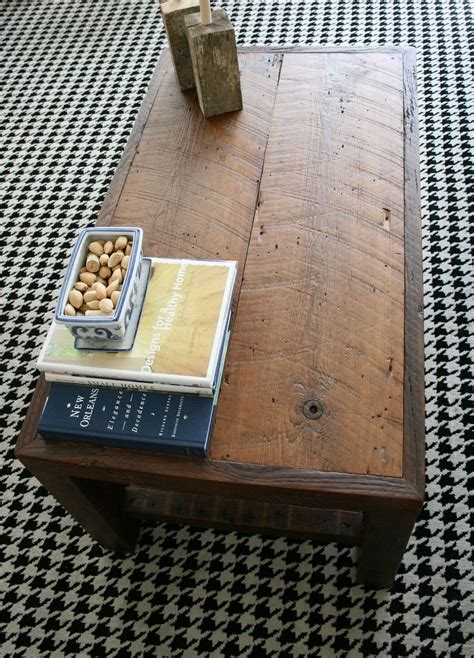 hand crafted  rustic coffee table    orleans