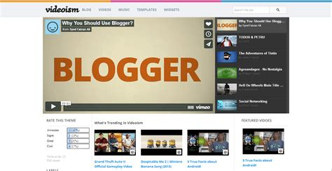 top 10 best blogger template for video site the first