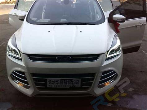 set hid headlight  ford escape kuga head lights led drl xenon lamps   ebay