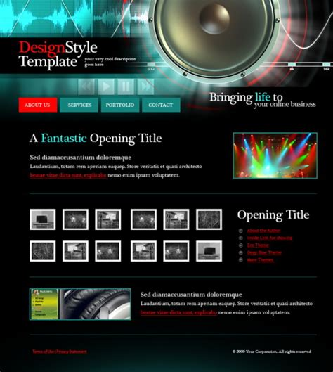 templates for music website free download 5593 music website templates dreamtemplate