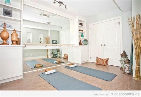 decoracion yoga ideas para dise 241 ar amueblar y decorar un gimnasio o