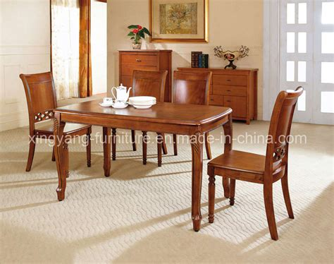 China Dining Chair Dining Room Furniture Wood Table Wood Hardwood Dining Room Furniture
