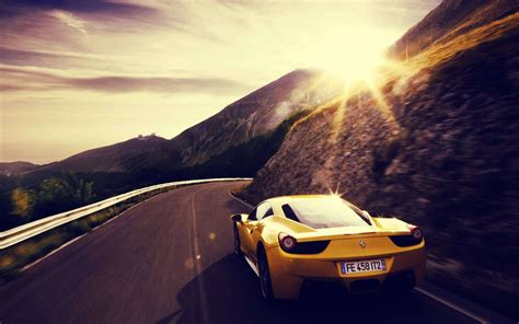 ferrari yellow wallpaper yellow ferrari wallpaper 36223 1920x1200 px hdwallsource com