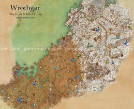 Eso World Map by Wrothgar Map The Elder Scrolls Online Game Maps Com