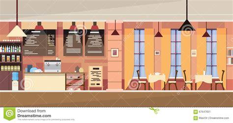 cafe interior design vector modern cafe interior empty stock vector image 67647651