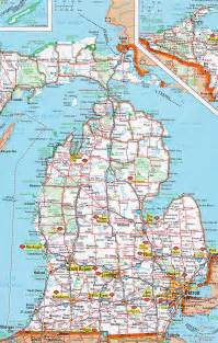 Detailed Map Of Michigan by Michigan Road Map Images