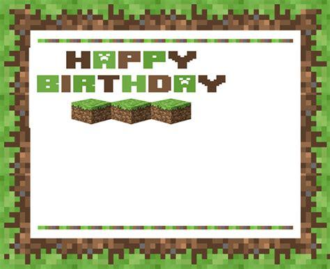 minecraft invitations free printable invitation templates