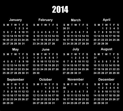 free yearly calendar templates 2014 free year to view calendar 2014 template software