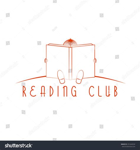 club z my reading child sitting and read book reading club logo stock