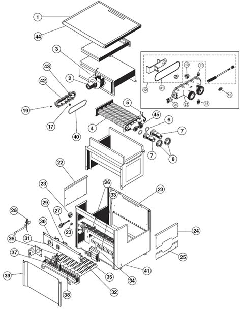 hayward h series induced draft heater replacement part schematic
