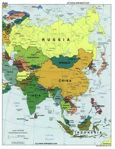 Where Is Asia On The Map by Map Of Asia Political Borders National Capitals Cities