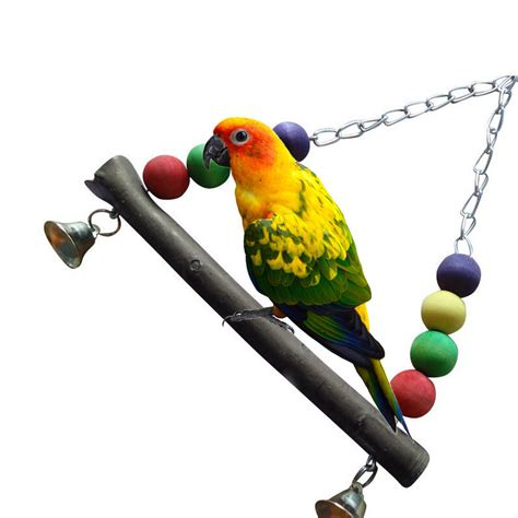 parrot swings 2016 hot colorful bird parrot wood swing cage toy parakeet