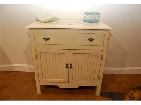 Bathroom cabinets and vanities on bathroom with antique french country