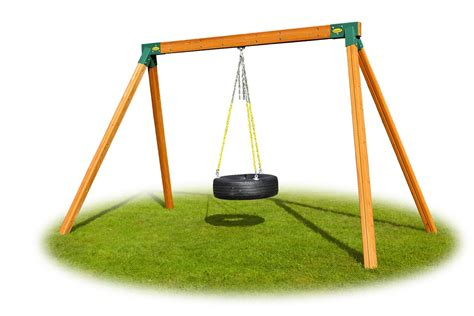 Classic Tire Wooden Swing Set Accessories Eastern