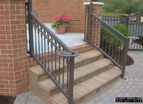 Exterior Banister by Wrought Iron Railings Home Depot Interior Exterior