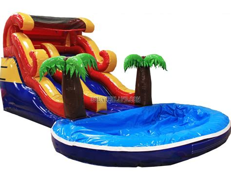 water slide bounce house bouncerland commercial inflatable water slide p2002