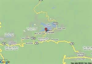 map of lake arrowhead chalets san bernardino