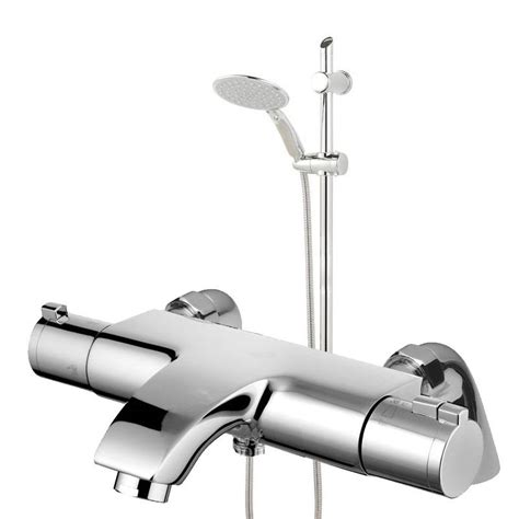 deck wall mounted thermostatic chrome bathroom bath shower mixer tap eco jty004 ebay