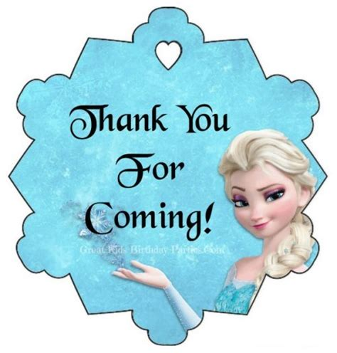 printable frozen thank you stickers frozen party