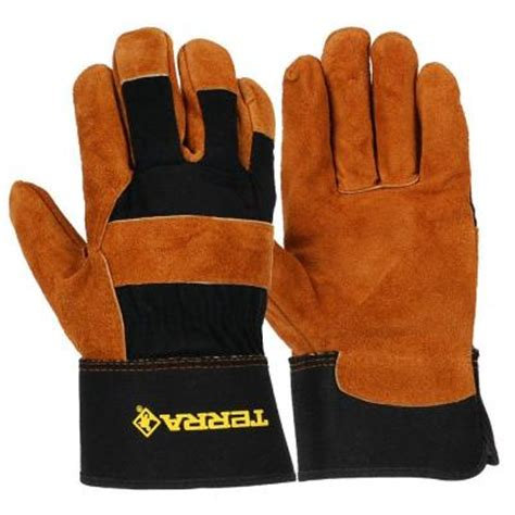terra leather mechanics utility medium work gloves