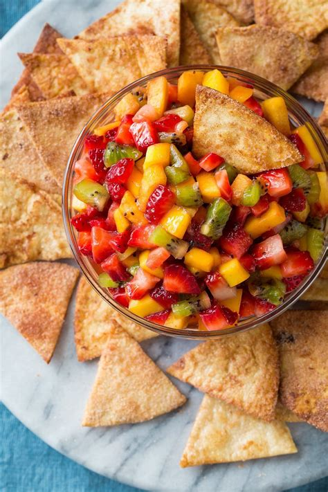 fruit salsa fruit salsa with baked cinnamon sugar chips cooking
