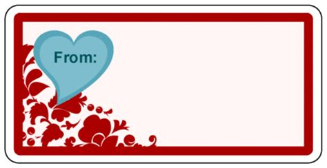 valentine s day quot from quot gift label with heart label