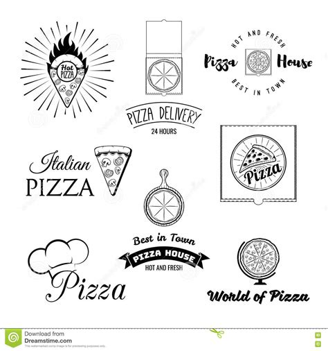 vintage menu design elements vector set pizzeria menu vintage design elements and badges set