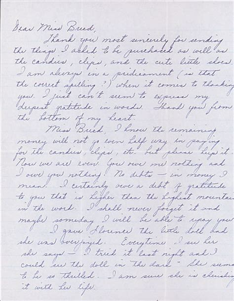 Letter Louise Letter To Clara Breed From Louise Ogawa Poston Arizona May Collections Japanese