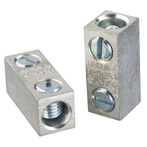 electrical marette shop blackburn 0 5 in aluminum and copper split bolt at