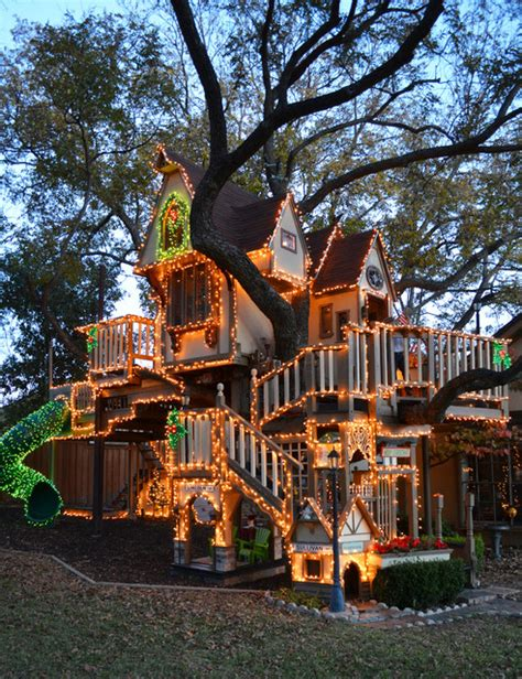 christmas tree house dallas tx christmas lights tree house eclectic kids